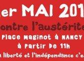 1er Mai 2013 à Nancy – Solidarité contre l'austérité !