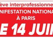 Manifestation Parisienne le 14 juin contre la Loi Travail.